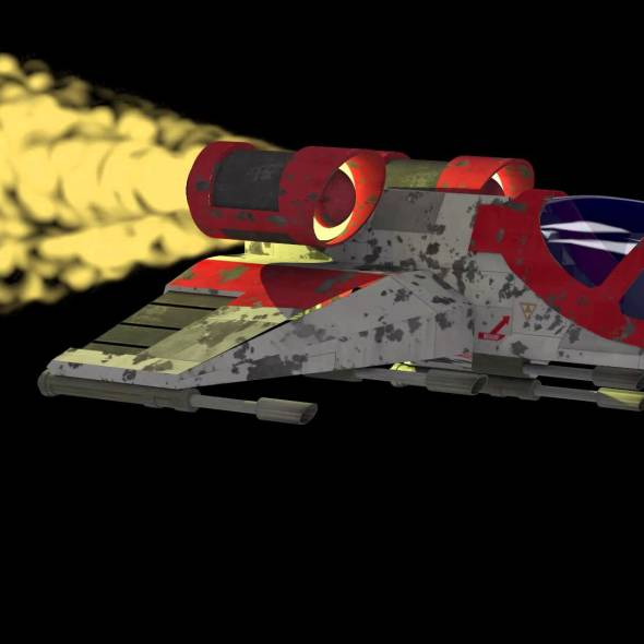 Rocket Demo for Particle System for Poser